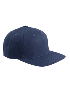 Navy 6-Panel Structured Flat Visor Classic Snapback