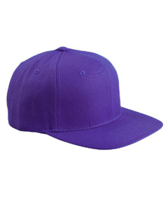 Purple 6-Panel Structured Flat Visor Classic Snapback