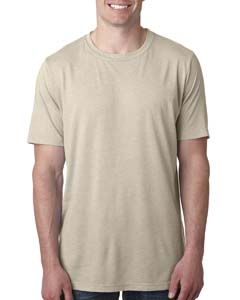 Cream Men's Poly/Cotton Short-Sleeve Crew Tee