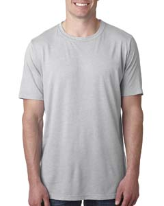 Silver Men's Poly/Cotton Short-Sleeve Crew Tee