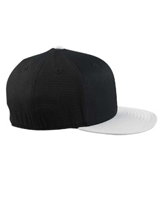 Black/grey 210 Fitted Flat Visor Cap