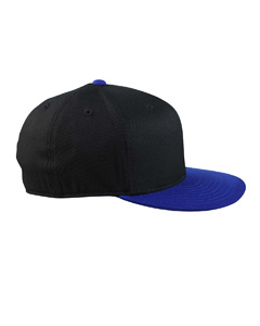Black/royal 210 Fitted Flat Visor Cap