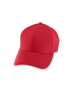Red Athletic Mesh Cap