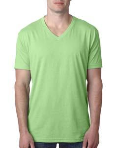 Apple Green Men's Premium CVC V-Neck Tee