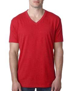 Red Men's Premium CVC V-Neck Tee
