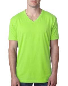 Neon Hthr Green Men's Premium CVC V-Neck Tee