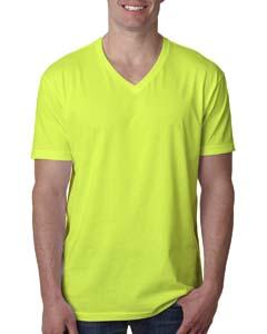 Neon Yellow Men's Premium CVC V-Neck Tee