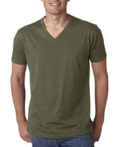 Military Green Men's Premium CVC V-Neck Tee
