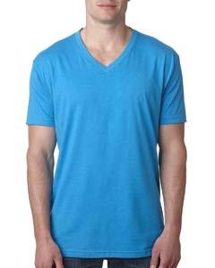 Turquoise Men's Premium CVC V-Neck Tee