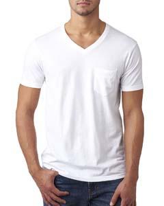 White Men's CVC Tee with Pocket