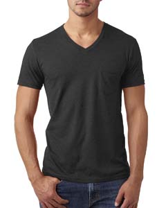 Charcoal Men's CVC Tee with Pocket