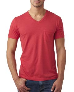Red Men's CVC Tee with Pocket