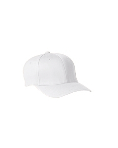 White Wooly 6-Panel Cap