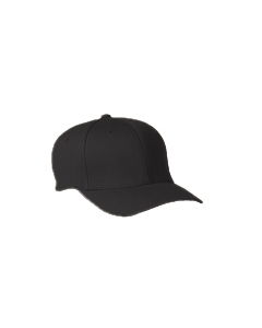 Black Wooly 6-Panel Cap