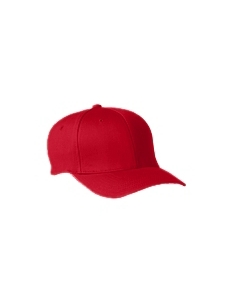 Red Wooly 6-Panel Cap