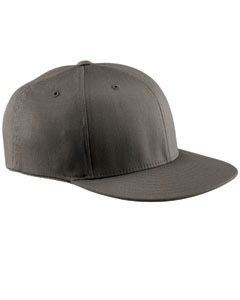 Dark Grey Wooly Twill Pro Baseball On-Field Shape Cap with Flat Bill