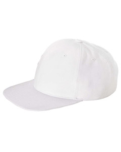 White Brushed Cotton Twill Mid-Profile Cap