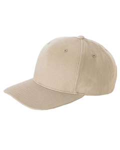 Khaki Brushed Cotton Twill Mid-Profile Cap
