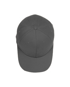 Grey Brushed 6-Panel Cap