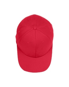 Red Brushed 6-Panel Cap