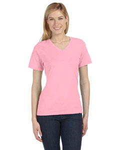 Pink Missy Jersey Short-Sleeve V-Neck T-Shirt