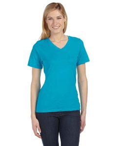 Turquoise Missy Jersey Short-Sleeve V-Neck T-Shirt