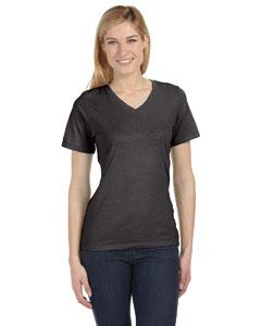 Chrcl Blck Trbln Missy Jersey Short-Sleeve V-Neck T-Shirt