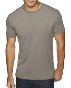 Warm Gray Men's Premium Fitted Sueded Crew
