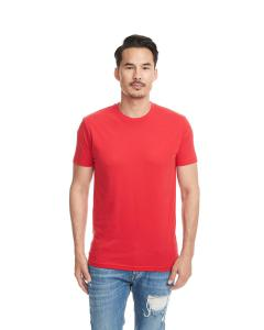 Red Men's Premium Fitted Sueded Crew