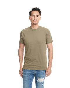 Military Green Men's Premium Fitted Sueded Crew