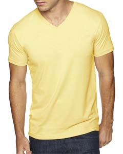 Banana Cream Men's Premium Fitted Sueded V-Neck Tee