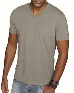 Warm Gray Men's Premium Fitted Sueded V-Neck Tee