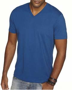 Cool Blue Men's Premium Fitted Sueded V-Neck Tee