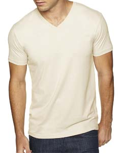 Natural Men's Premium Fitted Sueded V-Neck Tee