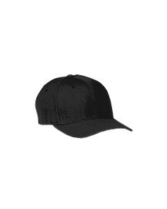 Black Wooly 6-Panel Cap