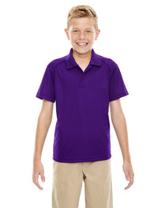 Campus Prple 427 Eperformance™ Youth Shield Snag Protection Short-Sleeve Polo
