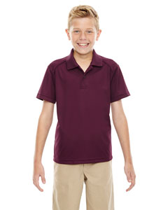 Burgundy 060 Eperformance™ Youth Shield Snag Protection Short-Sleeve Polo