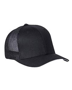 Black 6-Panel Trucker Cap