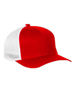Red/white 6-Panel Trucker Cap