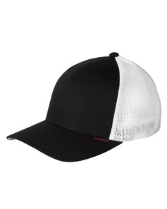 Black/white 6-Panel Trucker Cap