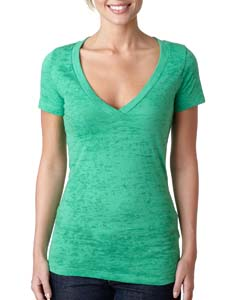 Envy Ladies' Burnout Deep V Tee