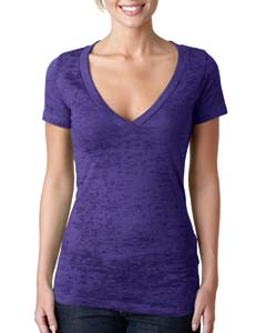 Purple Rush Ladies' Burnout Deep V Tee