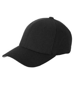Black Cool & Dry® Piqué Mesh Cap