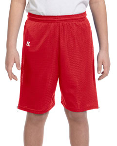 True Red Youth Nylon Tricot Mesh Short