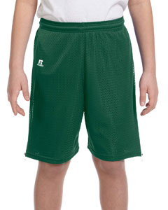 Dark Green Youth Nylon Tricot Mesh Short
