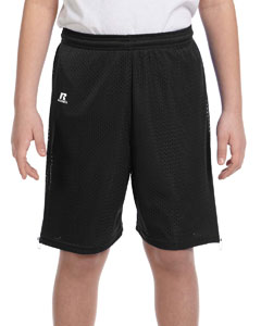 Black Youth Nylon Tricot Mesh Short