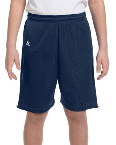 Navy Youth Nylon Tricot Mesh Short