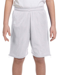 Gridiron Silver Youth Nylon Tricot Mesh Short
