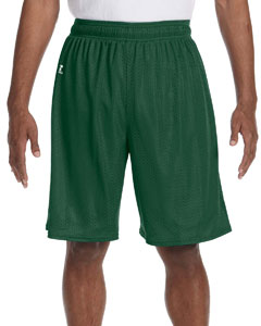 Dark Green Nylon Tricot Mesh Short