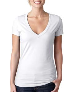 White Ladies CVC Deep V Tee